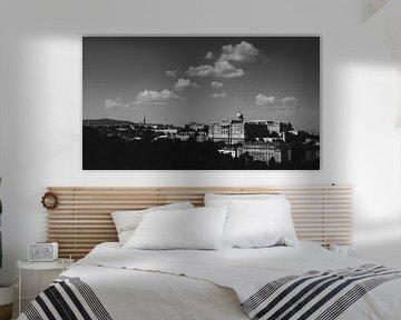 Panorama der ungarischen Burg von Buda von Keserű Collective