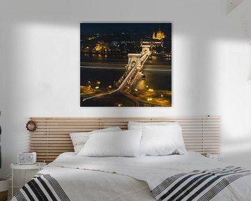 Kettenbrücke über die Donau in Budapest von Keserű Collective