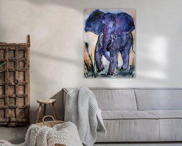 Blauer Elefant von Christine Nöhmeier