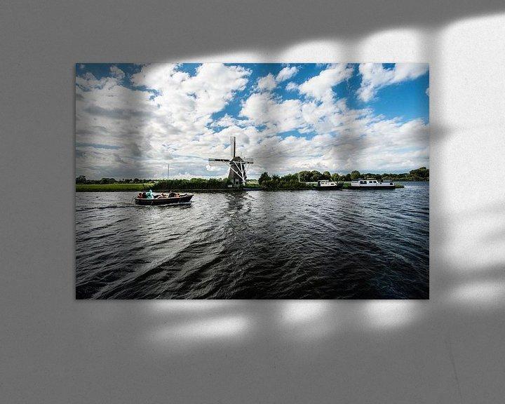 Sfeerimpressie: Oude Windmolens in Nederland. van Brian Morgan