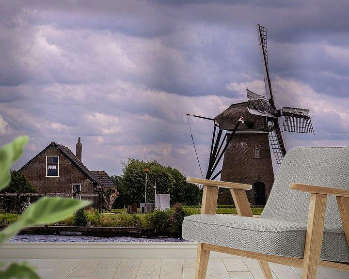 Sfeerimpressie behang: Windmolens in Holland van Brian Morgan