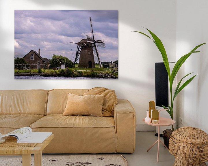 Sfeerimpressie: Windmolens in Holland van Brian Morgan