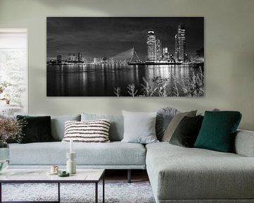 Skyline von Rotterdam schwarz-weiß von Klaus Lucas