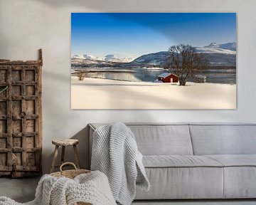Winter op Senja eiland, Noorwegen van Adelheid Smitt