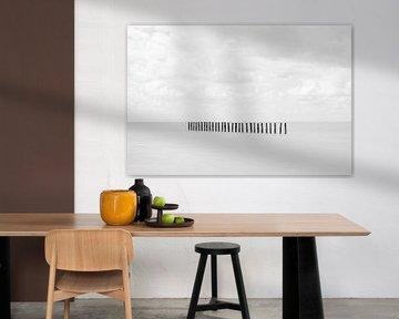 Einfachheit der Masten im Meer von Wendy Tellier - Vastenhouw