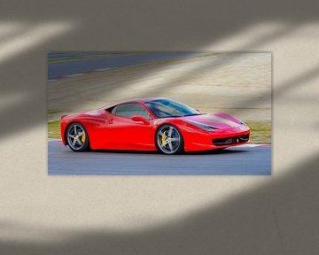 Ferrari 458 Italia sportwagen op het circuit van Sjoerd van der Wal
