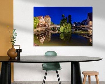 Altstadt von Nürnberg am Abend von Werner Dieterich