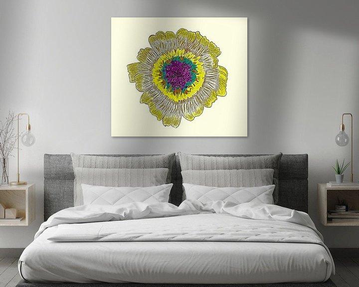 Beispiel: Gänseblumenzeichnung / Radierung von Jose Lok