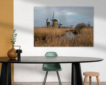 Moulins à Kinderdijk Pays-Bas sur Gert Hilbink