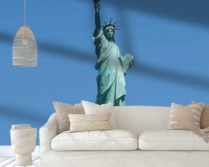 Impression: Vieille affiche Statue de la Liberté, New York sur Discover Dutch Nature