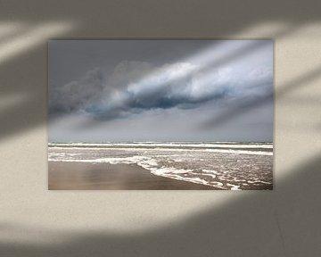 Meer mit Wolke und blauem Himmel von Karijn | Fine art Natuur en Reis Fotografie