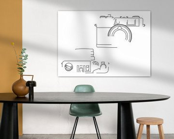 Analogkamera-Silhouette (Yashica Electro 35 GX-Stil) von Drawn by Johan
