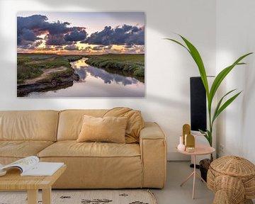 Sonnenuntergang von Slufter Texel von Texel360Fotografie Richard Heerschap