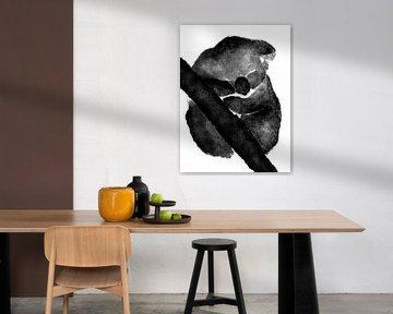 Koala schwarz/weiß von DominixArt