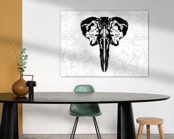 Elefant Abstrakt von DominixArt