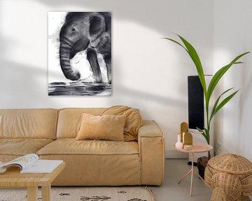 Elefant von DominixArt