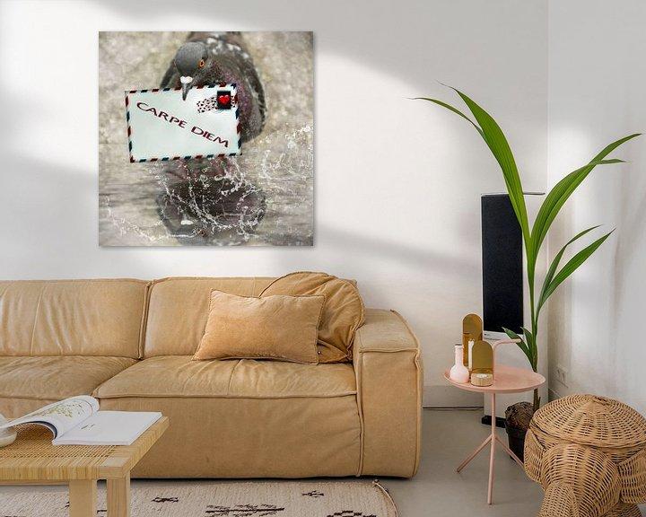 Beispiel: Brieftaube - Carpe diem von Christine Nöhmeier