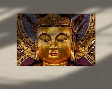 Boeddha in een tempel in de Cameron Highlands in Maleisie van Jeroen Langeveld, MrLangeveldPhoto