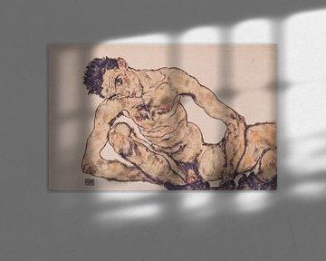 Aktselbstbildnis, Egon Schiele - 1916 von Atelier Liesjes