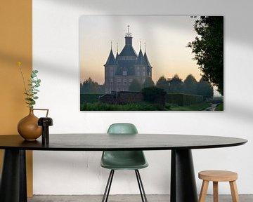 Kasteel Heemstede bij zonsopkomst, Houten, Nederland van Pierre Timmermans