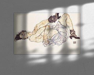 Liegender weiblicher Akt, Egon Schiele - 1917 von Atelier Liesjes