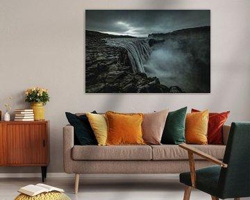 Dramatisch Dettifoss waterval in ijsland