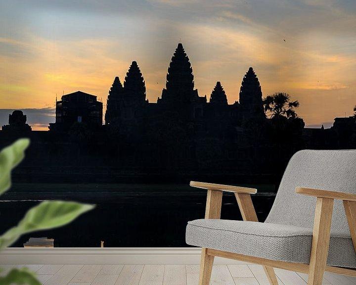 Sfeerimpressie behang: De tempel van Angkor van Jeroen Langeveld, MrLangeveldPhoto