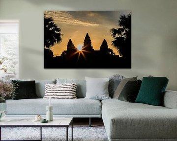 Lever du soleil au temple d'Angkor sur Jeroen Langeveld, MrLangeveldPhoto