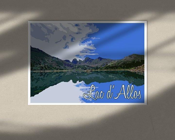Beispiel: Vintage Poster Lac d'Allos, Frankreich von Discover Dutch Nature
