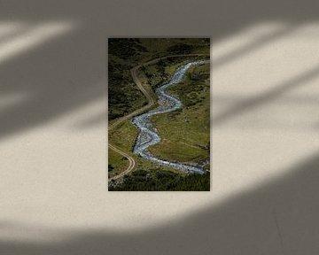 Beekje en paadje van boven van Sasja van der Grinten