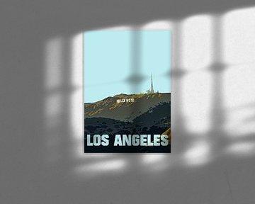 Vieille affiche, Hollywood Los Angeles USA sur Discover Dutch Nature