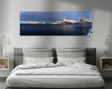 Winterpanorama, Senja, Noorwegen van Adelheid Smitt
