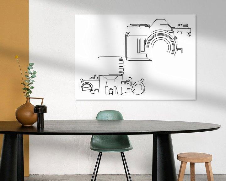 Beispiel: Analogkamera-Silhouette (Canon AE-1-Stil) von Drawn by Johan