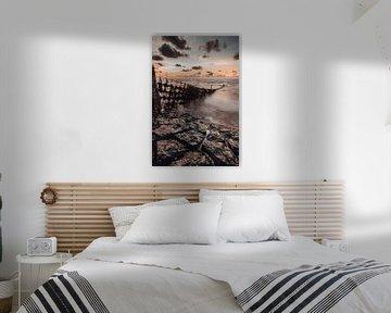 Das Wattenmeer bei Oosterbierum von Geert Jan Kroon