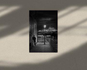 Praag zwart-wit van Iman Azizi