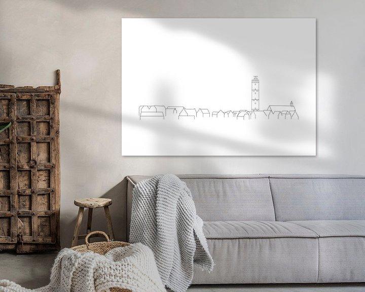 Beispiel: Terschelling-Poster Brandaris Skyline von Studio Tosca