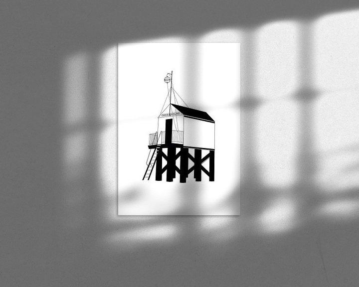 Sfeerimpressie: Poster Drenkelingenhuisje Terschelling van Studio Tosca