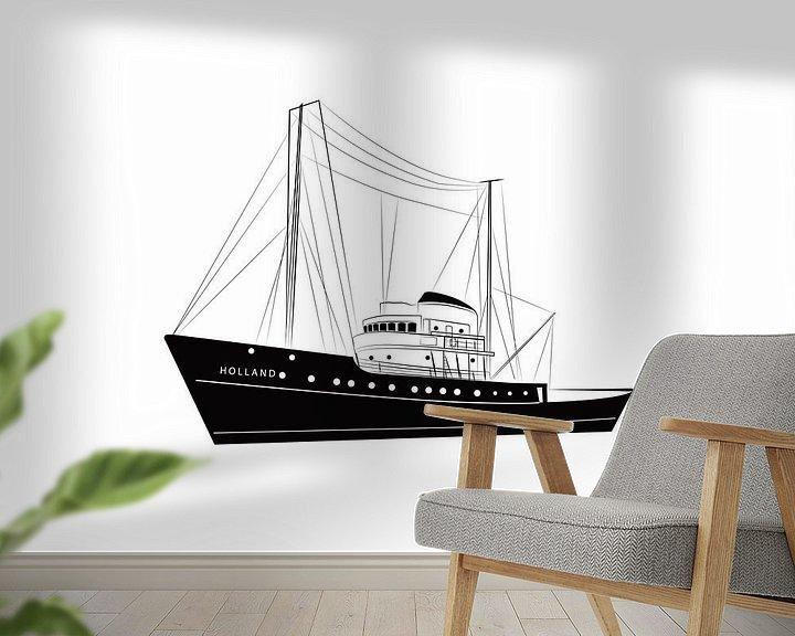 Beispiel fototapete: Poster Seeschlepper Holland PESK von Studio Tosca