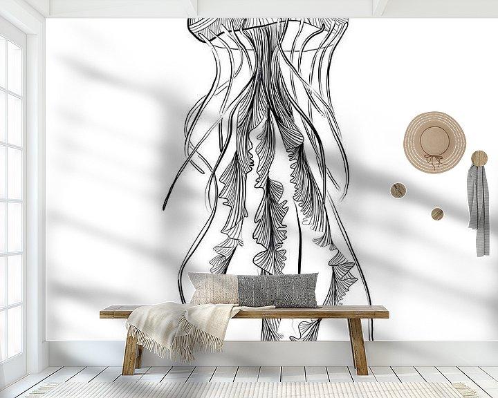 Beispiel fototapete: Poster-Illustration Qualle Terschelling von Studio Tosca