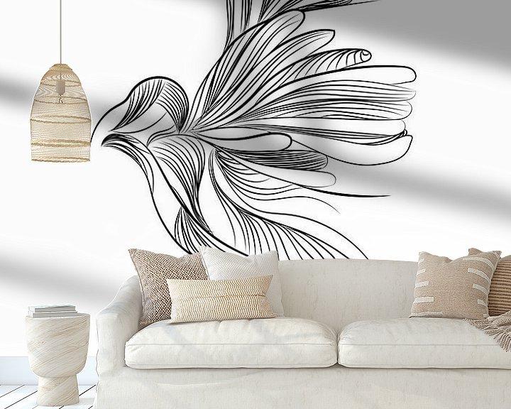 Beispiel fototapete: Illustration Vogel Tierdruck Kindergarten von Studio Tosca