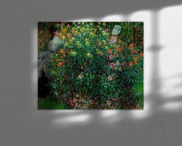 Zwei Frauen unter den Blumen, Claude Monet