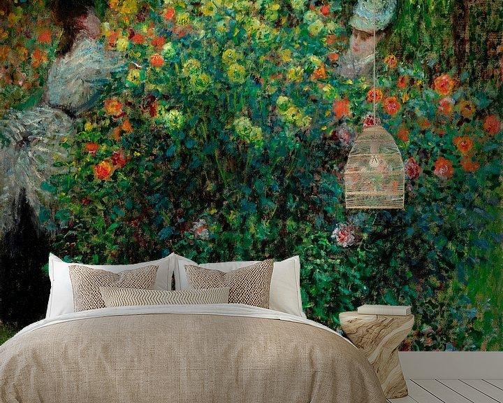 Beispiel fototapete: Zwei Frauen unter den Blumen, Claude Monet