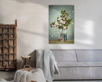 Appelbloesemstilleven van Steffen Gierok