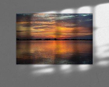 Sky on fire van Silvia Thiel