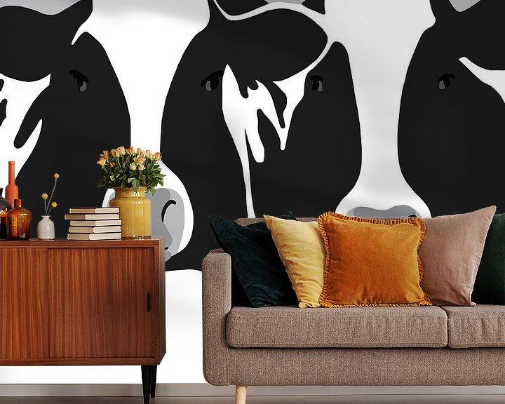 Beispiel fototapete: Kühe von Jole Art (Annejole Jacobs - de Jongh)