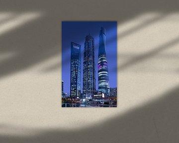 Höchste Wolkenkratzer von Shanghai Pudong Finanzvierteln von Tony Vingerhoets