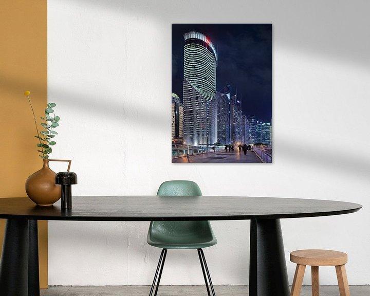 Impression: gratte-ciel impressionnants à Shanghai au crépuscule sur Tony Vingerhoets