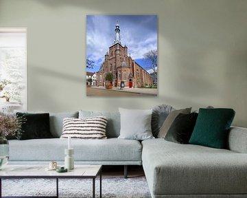 Monumental Saint Dionysius Eglise contre un ciel bleu sur Tony Vingerhoets