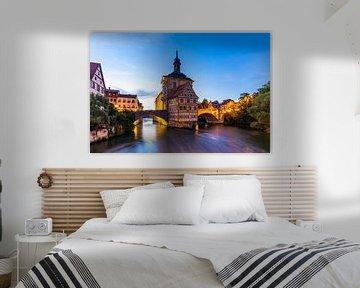 Altes Rathaus in Bamberg bei Nacht von Werner Dieterich