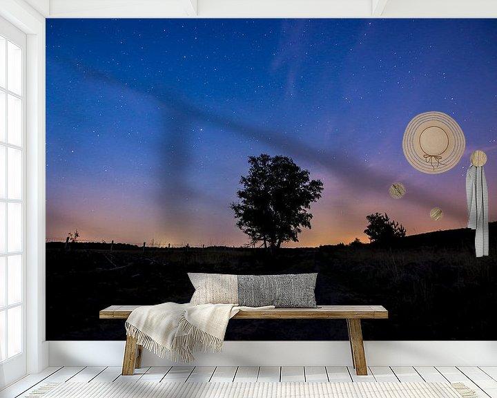 Sfeerimpressie behang: Nacht in wellerlooi van Mark Lenoire